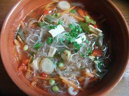 Soupe vermicelle et légumes