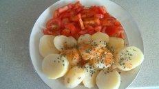 Pommes de terre bouillies et tomates : Mel