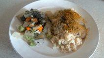 Riz complet, crème de lentille et légumes : Mel